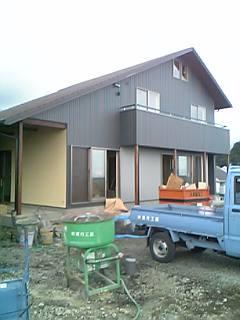 富士の心地いい木の家、もうすぐ完成です。
