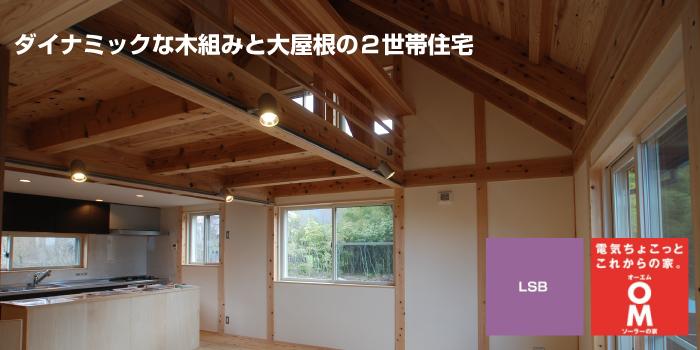 二世帯<br>ダイナミックな木組みの家