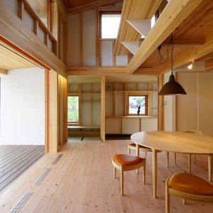第二の人生はこんな家で<br>平屋にみえる1.5階建て