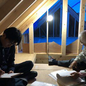 沼津で家を建てるならLOHAS、三角屋根の家、富士山を望むバルコニー