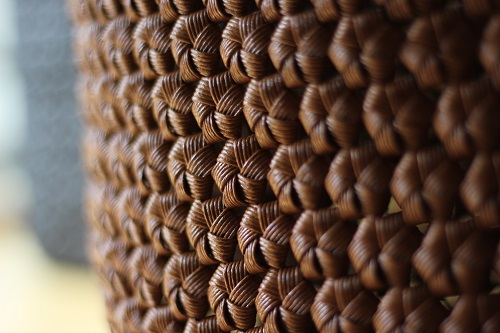 富士市で花かご編みのカゴバッグ