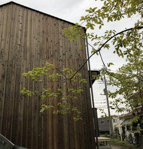 木を張った外壁の家が富士市大淵にできました