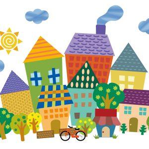 家の外観、屋根の形