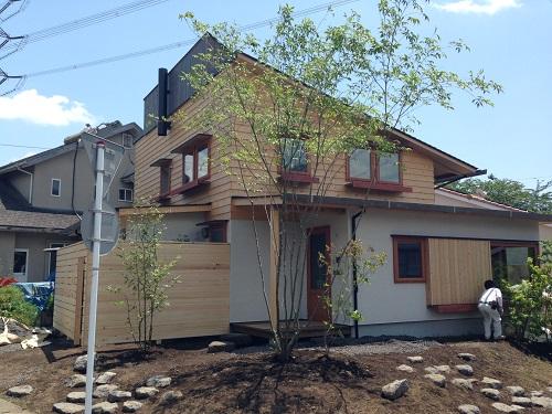 片流れの屋根&2階リビングの家 完成