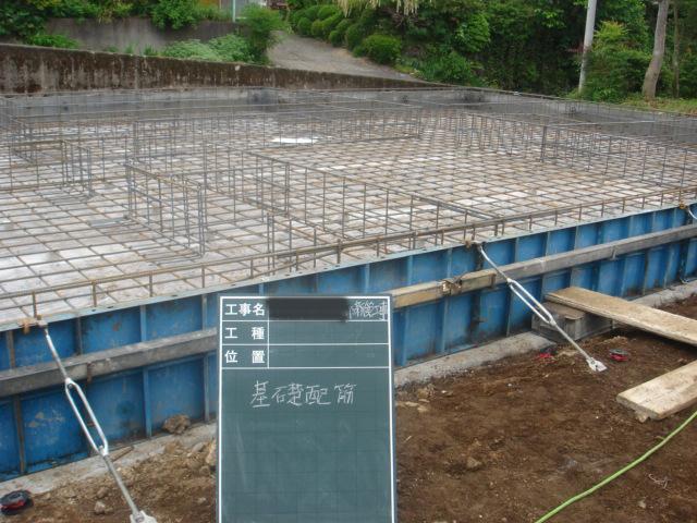 静岡優良木材の家、配筋検査
