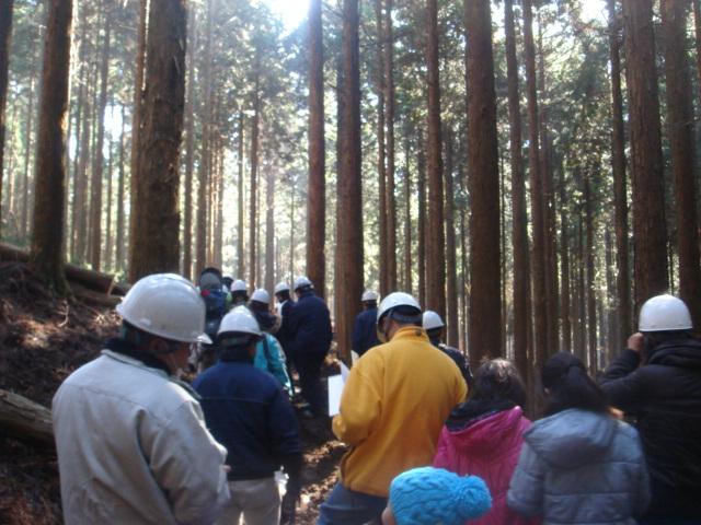 森林認証(SGEC)の森へのバスツアーに行きました。