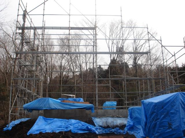 朝霧高原の200年住宅(超長期優良住宅)建て方が始まります