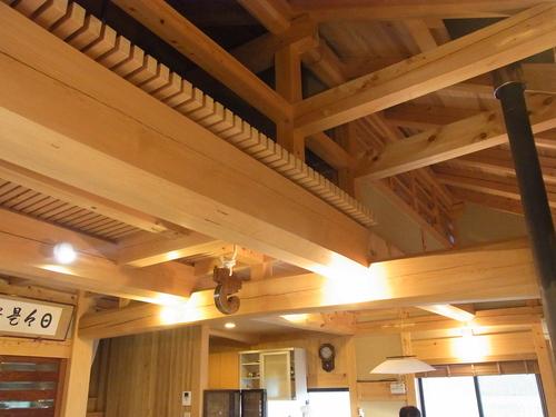 ダイナミックな木組みのモデルハウス