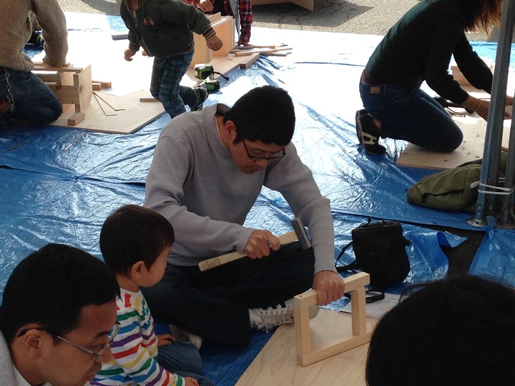 ものづくり物語LOHAS木工教室盛況でした。