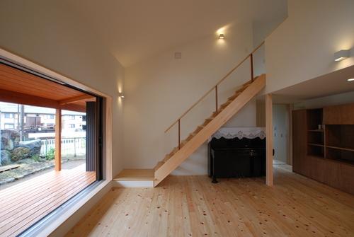 平屋のような2階建ての家中の様子です。