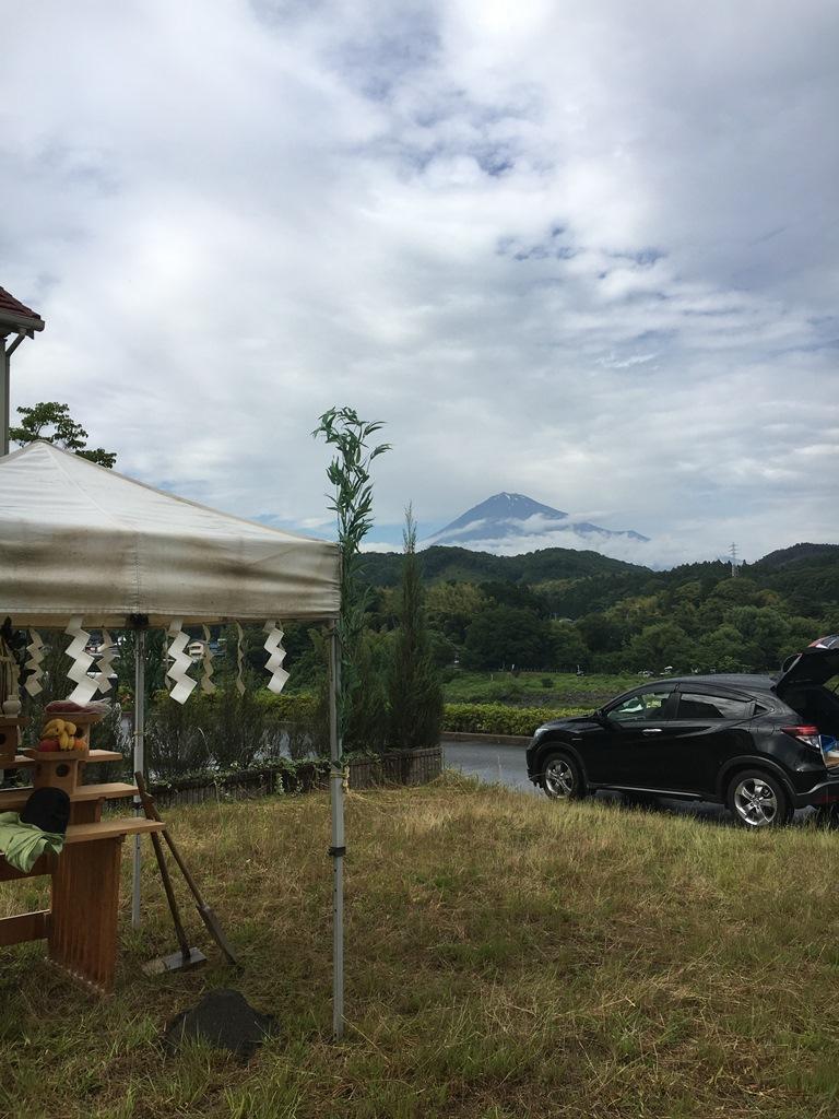 富士川ごしに富士山を眺める家、着工します。